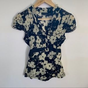 The Limited   Floral Tie-Back Top